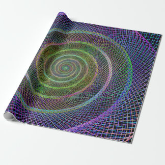 Espiral reticulado psicodélico papel de regalo