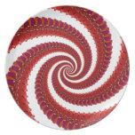 Espiral rojo de Octo Plato De Comida