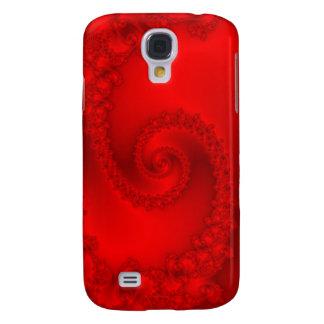 Espiral rojo del fractal samsung galaxy s4 cover