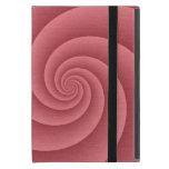 Espiral rojo en textura cepillada del metal iPad mini coberturas