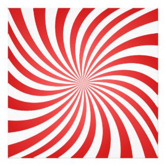 Espiral rojo arte con fotos
