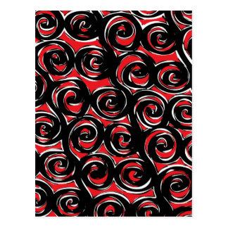 Espiral rojo tarjetas postales