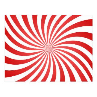 Espiral rojo tarjeta postal