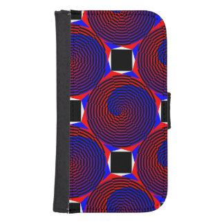 Espiral rojo y azul billetera para galaxy s4