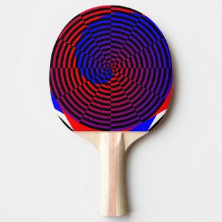 Espiral rojo y azul de Kenneth Yoncich Pala De Tenis De Mesa