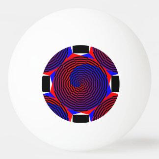 Espiral rojo y azul de Kenneth Yoncich Pelota De Ping Pong