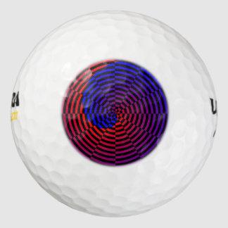 Espiral rojo y azul pack de pelotas de golf