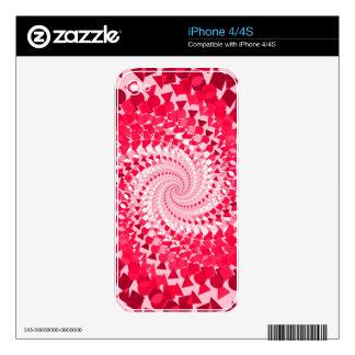 Espiral rosado calcomanías para el iPhone 4