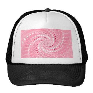 Espiral rosado gorros