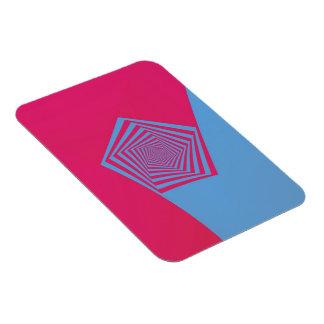 Espiral rosado y azul de Pentágono Iman Flexible