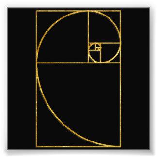 Espiral sagrado de Fibonacci del coeficiente de or Fotografias