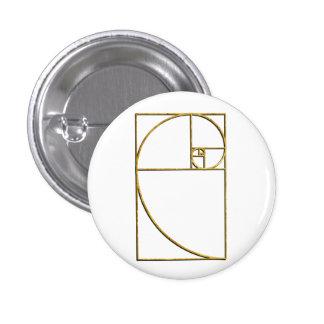 Espiral sagrado de Fibonacci del coeficiente de or Pin Redondo 2,5 Cm