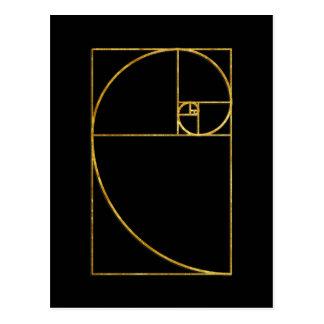 Espiral sagrado de Fibonacci del coeficiente de Tarjetas Postales