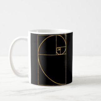 Espiral sagrado de Fibonacci del coeficiente de Taza Clásica