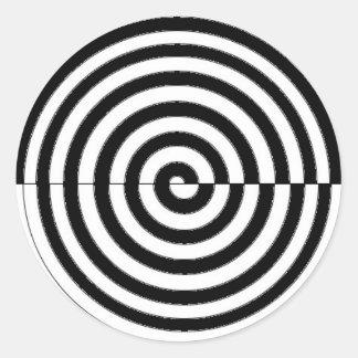 espiral_sinistrogira pegatina redonda