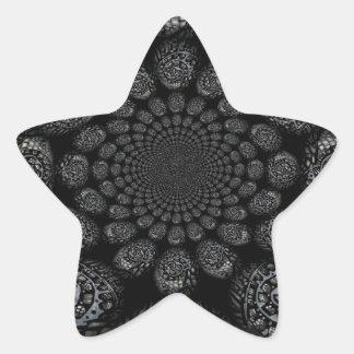 Espiral torcido mundos abstractos colcomanias forma de estrella personalizadas