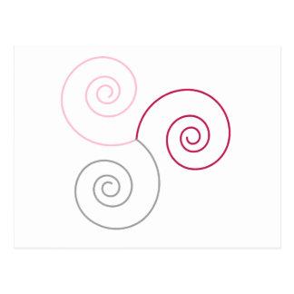 Espiral tricolor de la copia de la vida tarjetas postales