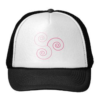 Espiral tricolor rosado de la vida gorra