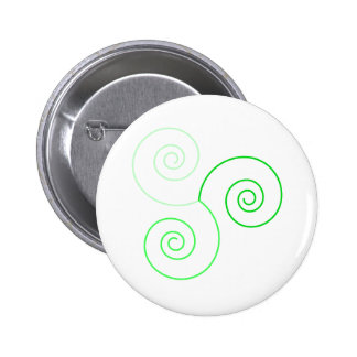 Espiral tricolor verde de la vida pins