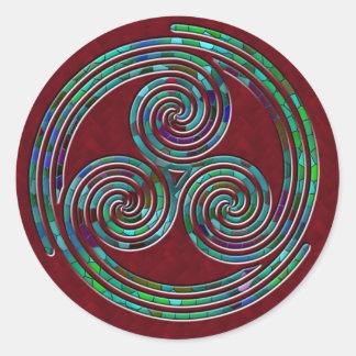 Espiral triple, triple y acebo - pegatina