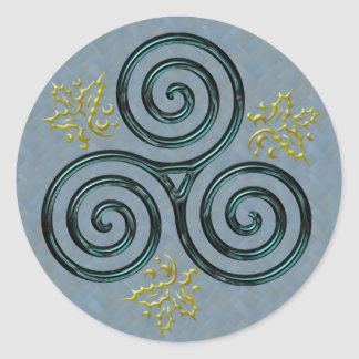 Espiral triple verde y acebo - pegatina