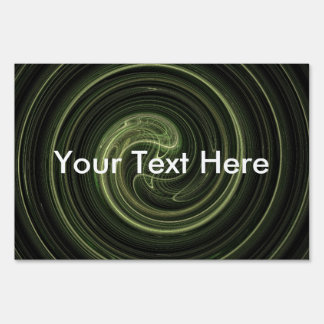 Espiral verde del fractal señal
