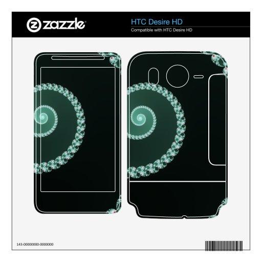 Espiral verde - diseño del fractal HTC desire HD skin