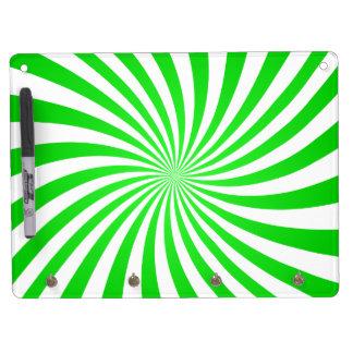 Espiral verde tableros blancos
