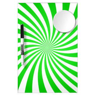 Espiral verde pizarra blanca