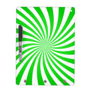 Espiral verde tablero blanco