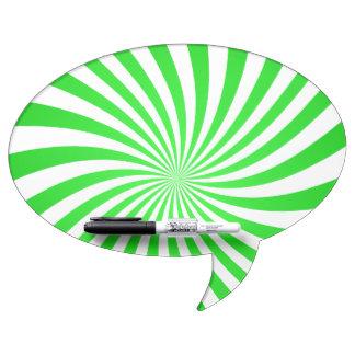 Espiral verde pizarras blancas de calidad