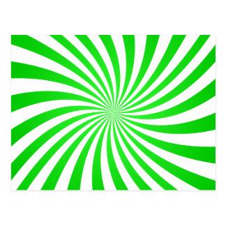 Espiral verde postal