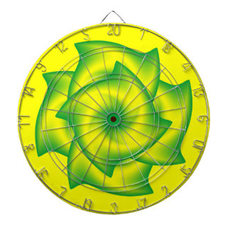 Espiral verde y amarillo tablero dardos