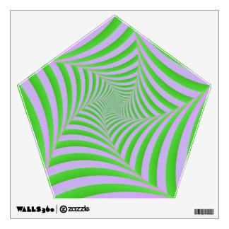 Espiral verde y de la lila vinilo decorativo