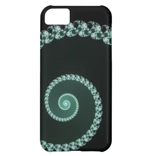 Espiral verde y gris del fractal