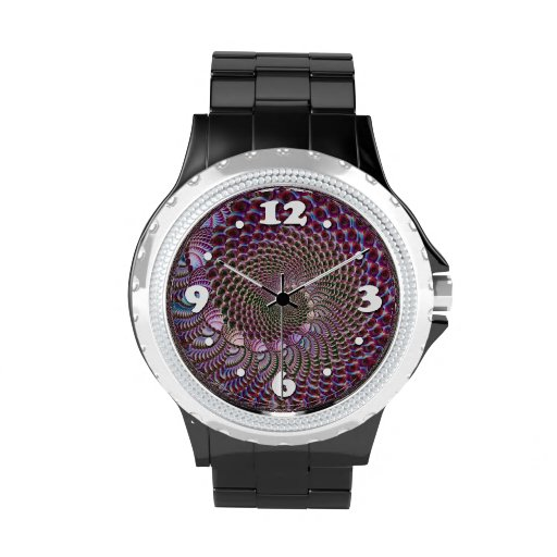 Espiral vidrioso relojes de pulsera