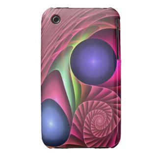 Espiral y burbujas abstractos frescos del caso del Case-Mate iPhone 3 coberturas