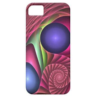 Espiral y burbujas abstractos frescos del caso del iPhone 5 fundas