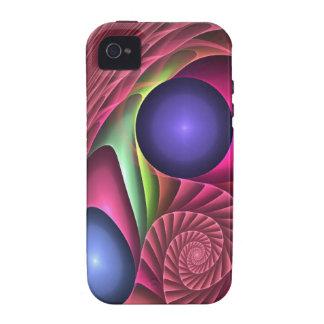 Espiral y burbujas abstractos frescos del caso del iPhone 4 carcasa
