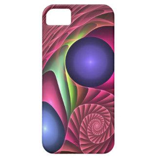 Espiral y burbujas abstractos frescos del caso del iPhone 5 funda