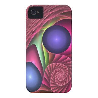 Espiral y burbujas abstractos frescos del caso del Case-Mate iPhone 4 fundas
