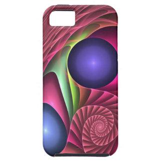 Espiral y burbujas abstractos frescos del caso del funda para iPhone 5 tough