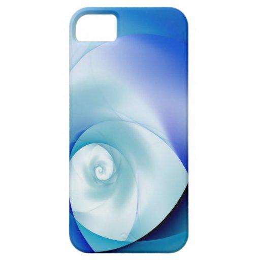 Espirales azules de las sombras iPhone 5 Case-Mate cárcasa