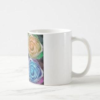 Espirales color de rosa coloridos tazas de café