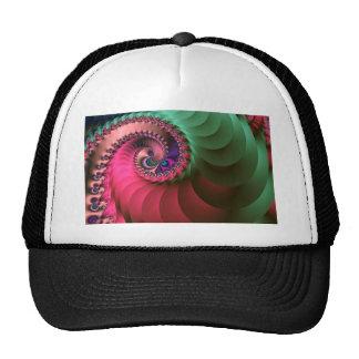 espirales coloreados fractal gorro de camionero