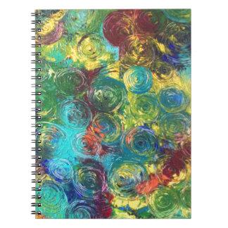 Espirales coloridos libretas