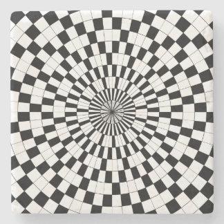 Espirales contrarios de Kenneth Yoncich Posavasos De Piedra