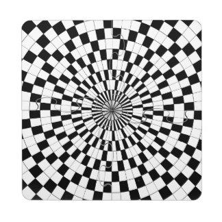 Espirales contrarios de Kenneth Yoncich Posavasos De Puzzle