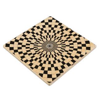 Espirales contrarios posavasos de madera