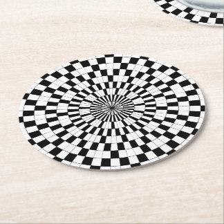 Espirales contrarios posavasos personalizable redondo